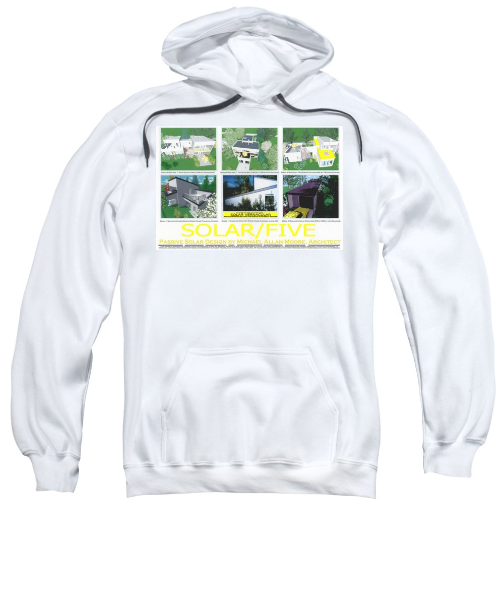 Architecture Sweatshirt featuring the mixed media Solar Five by Michael Moore