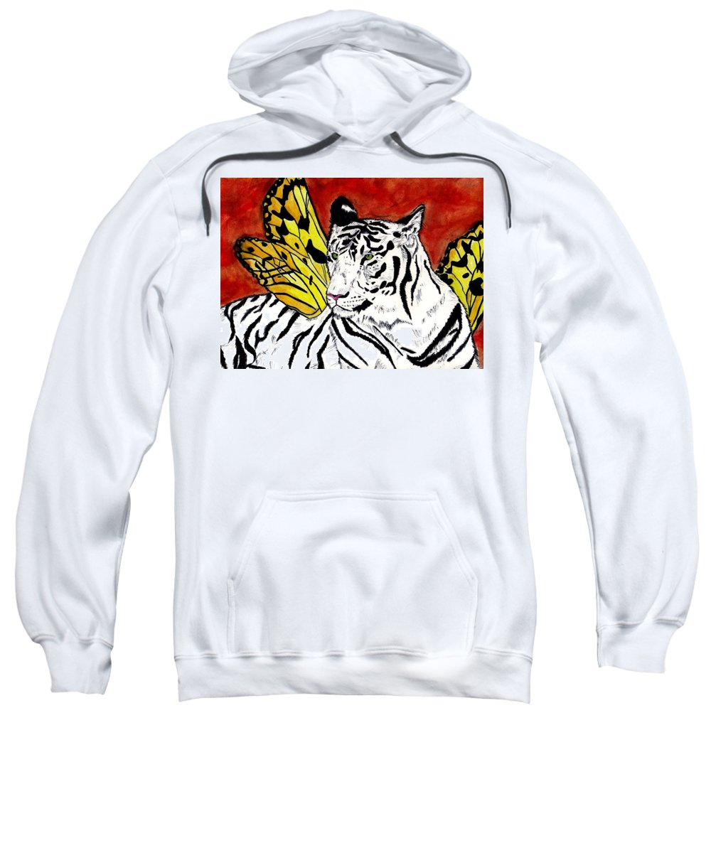 Tiger Sweatshirt featuring the painting Soul Rhapsody by Crystal Hubbard