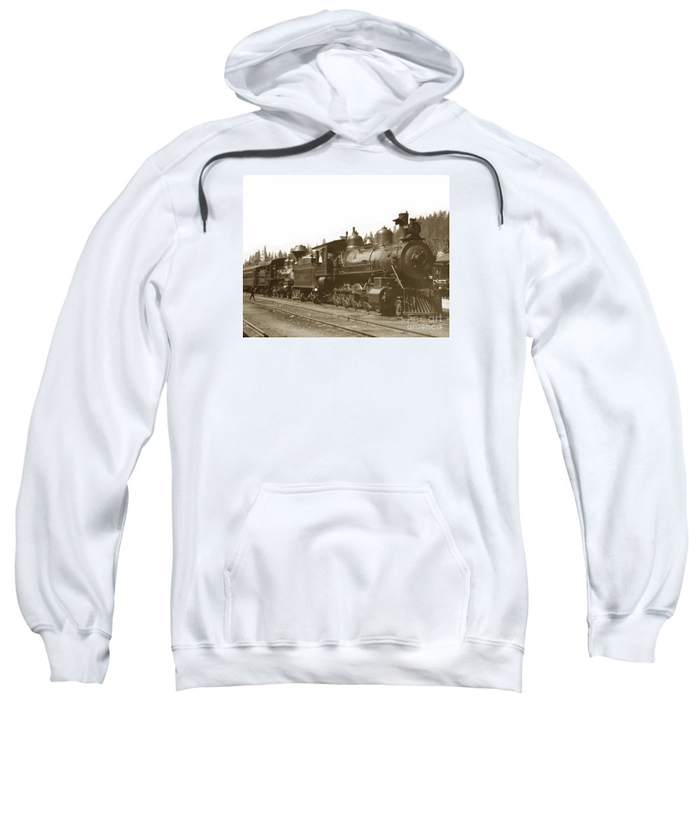 Steam Sweatshirt featuring the photograph Southern Pacific Steam Locomotives No. 2847 2-8-0 1901 by California Views Archives Mr Pat Hathaway Archives