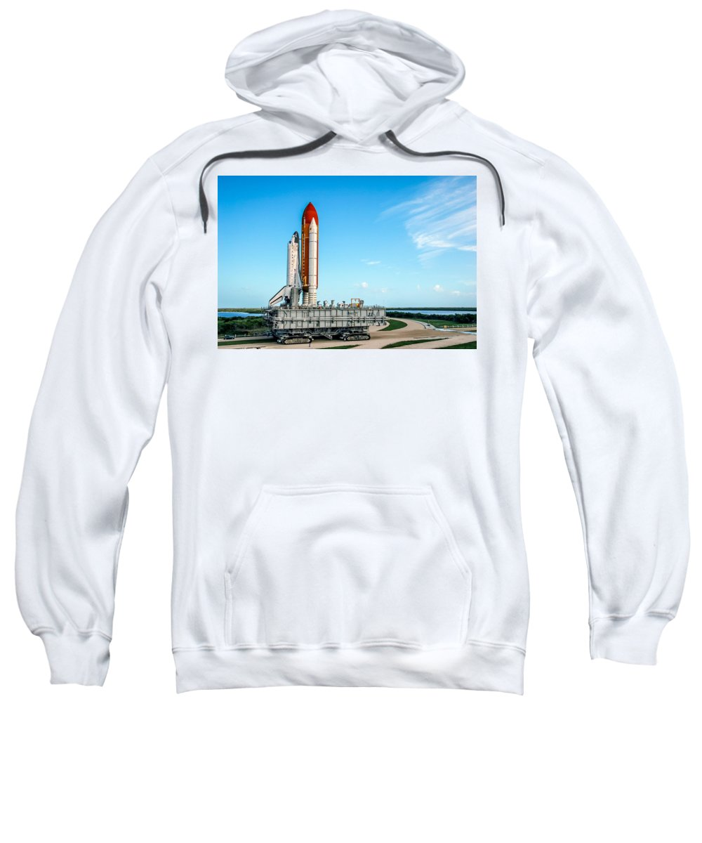 Space Shuttle Sweatshirt featuring the photograph Space Shuttle by Chad Rowe