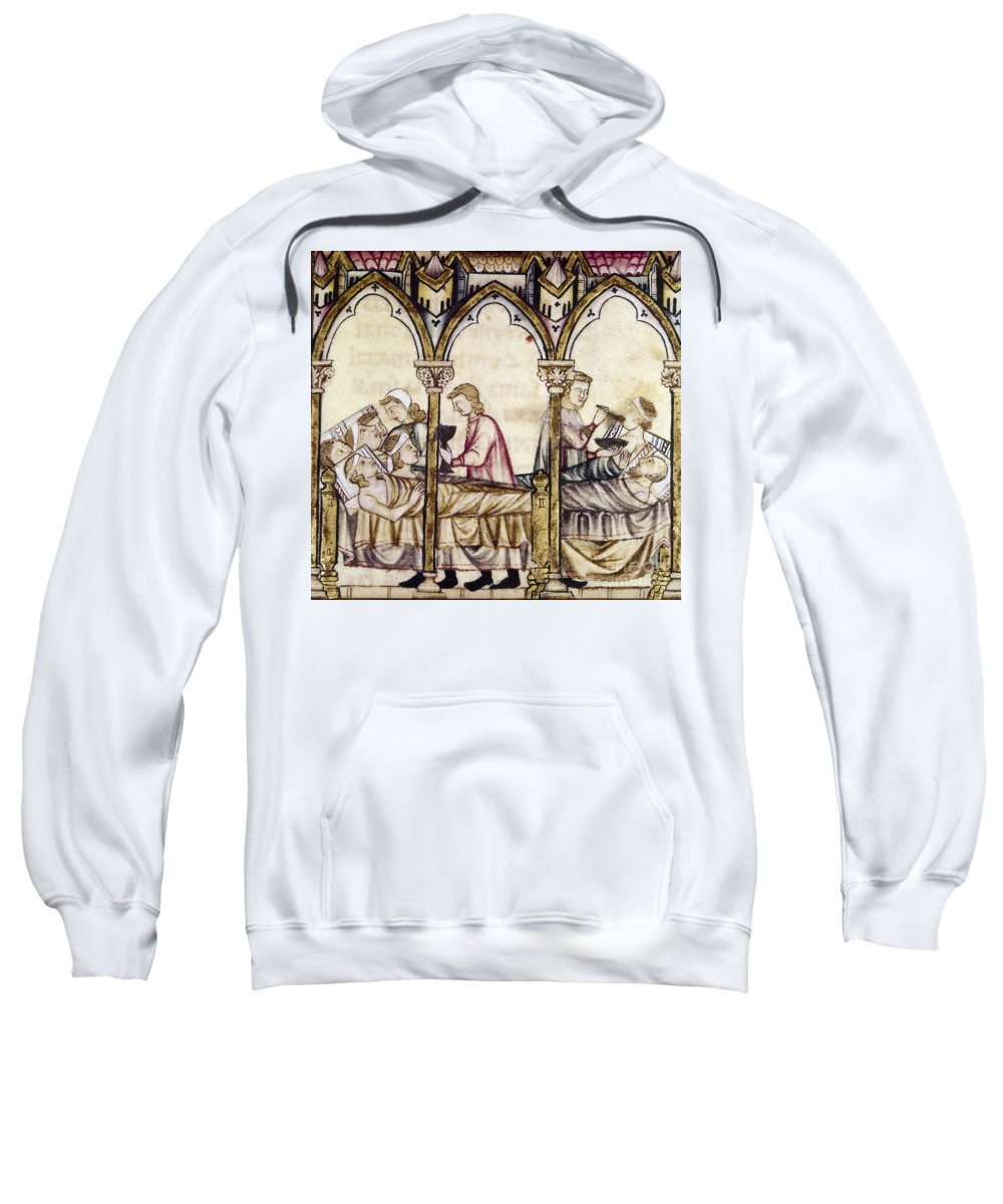 13th Century Sweatshirt featuring the photograph Spain: Medieval Hospital by Granger