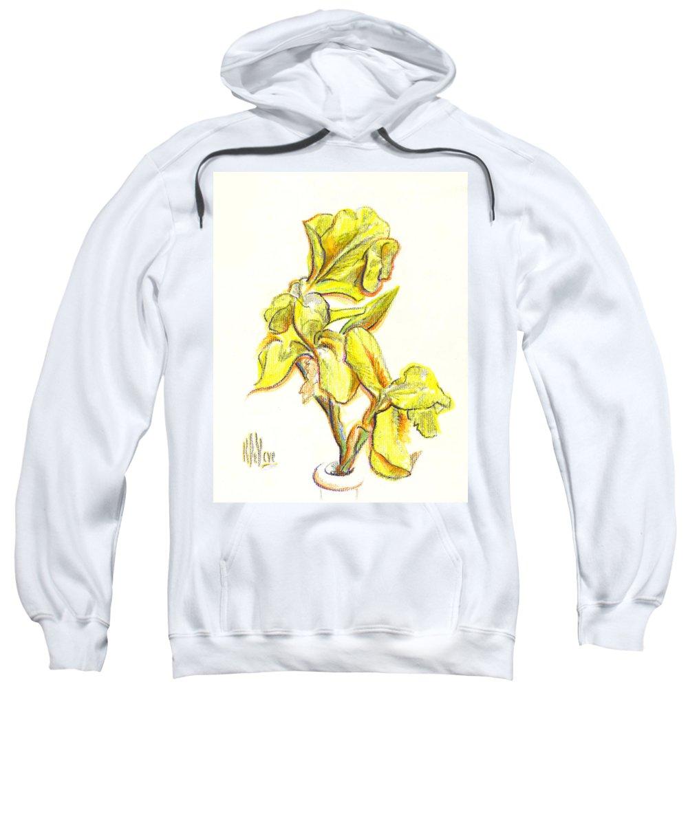 Spanish Irises Sweatshirt featuring the painting Spanish Irises by Kip DeVore