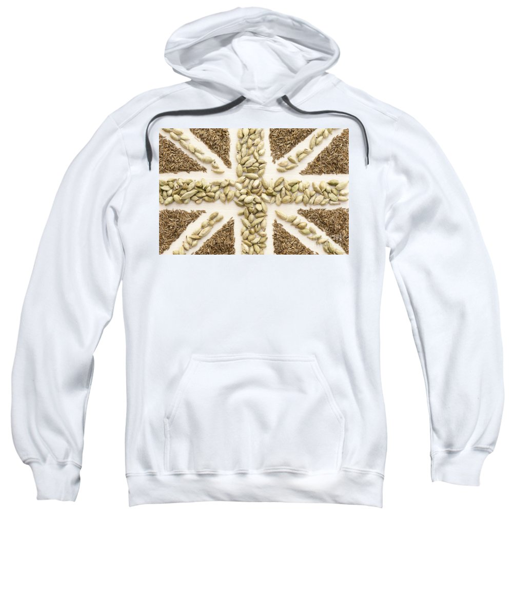 2012 Sweatshirt featuring the photograph Spice Flag by Anne Gilbert
