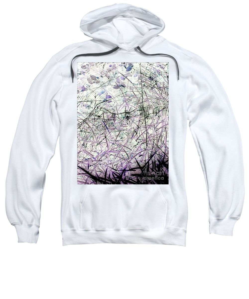 Spider Sweatshirt featuring the photograph Spider Web Art 3 by Tina Vaughn