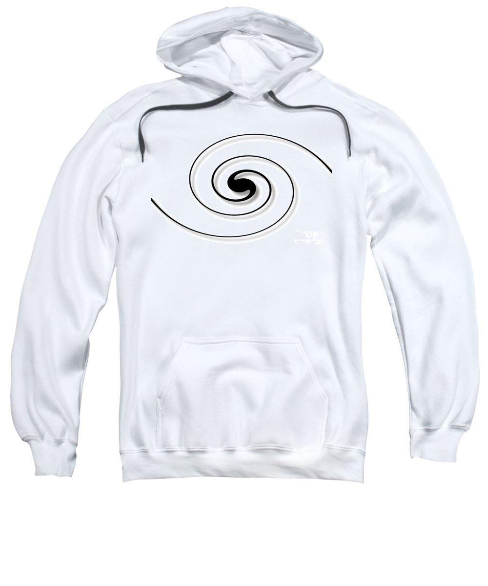 Spiral Sweatshirt featuring the digital art Spiral White by Henrik Lehnerer