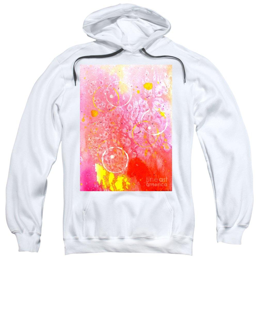 Spirit Dance Sweatshirt featuring the painting Spirit Dance by Desiree Paquette