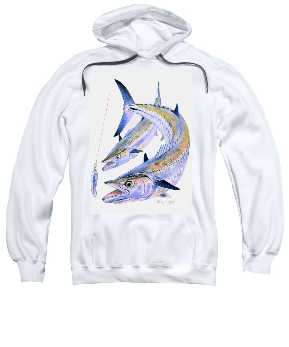 Kingfish Sweatshirt featuring the painting Spoon King by Carey Chen
