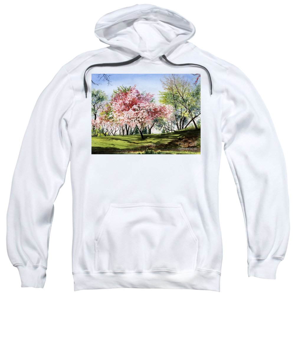 Flowers Sweatshirt featuring the painting Spring Morning by Barbara Jewell