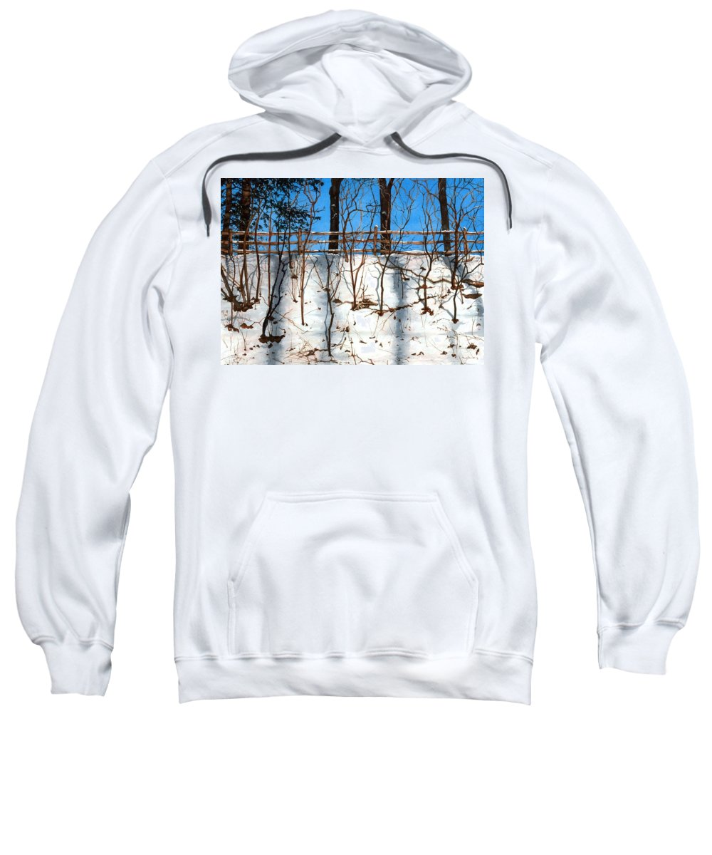 Water Color Paintings Sweatshirt featuring the painting Spring Snow by Barbara Jewell
