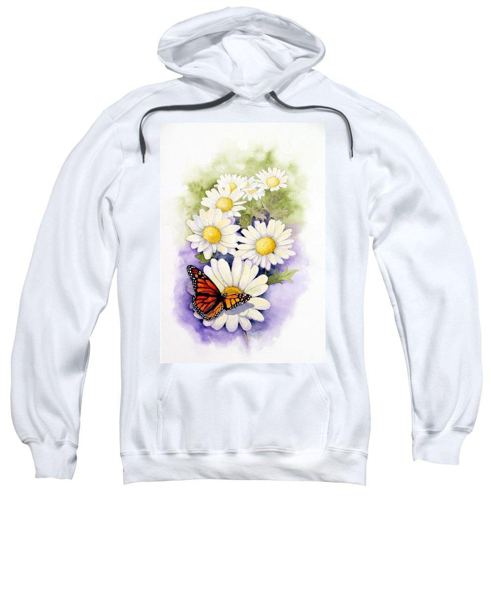 Watercolor Floral Sweatshirt featuring the painting Springtime Daisies by Brett Winn
