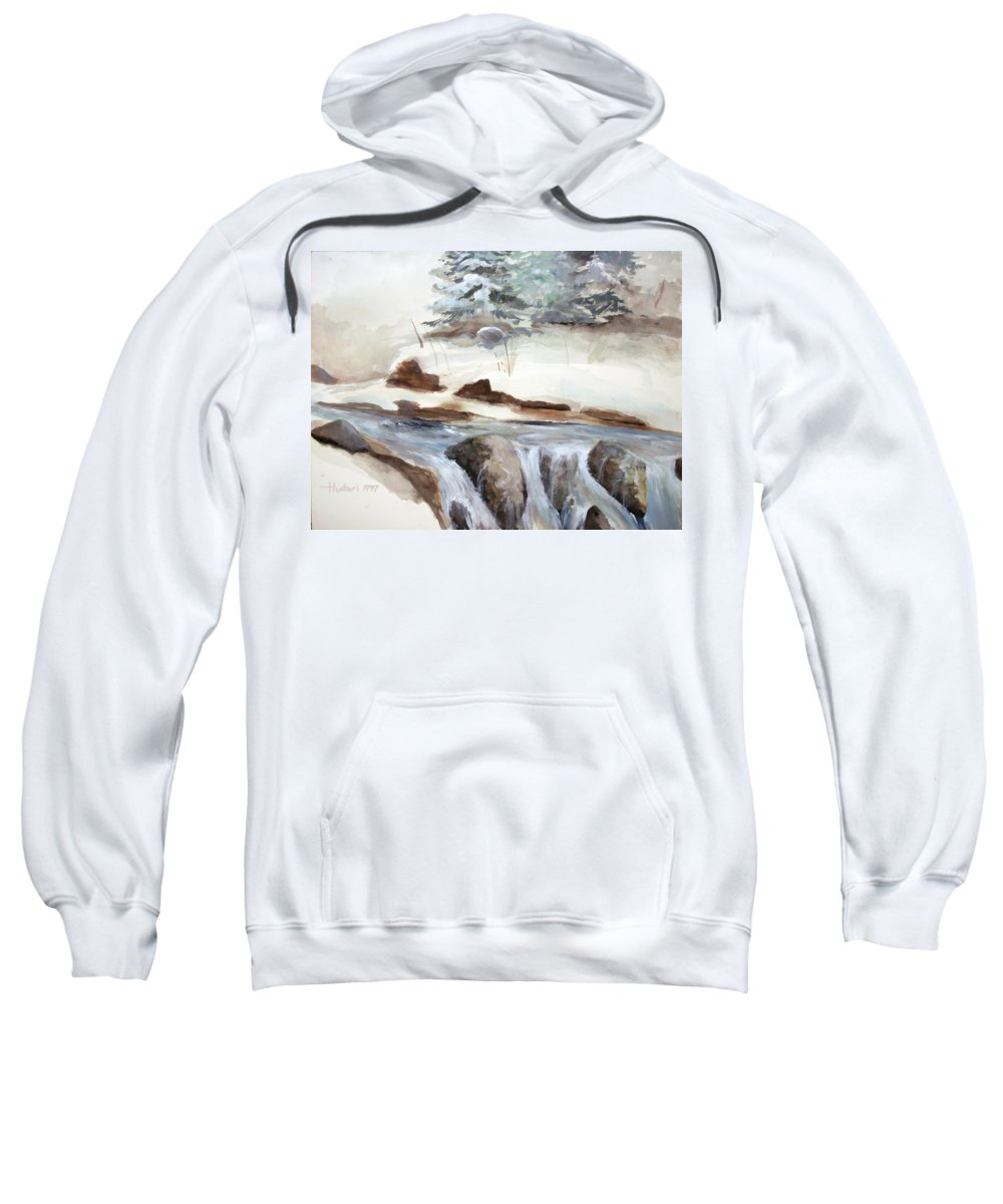 Rick Huotari Sweatshirt featuring the painting Springtime by Rick Huotari