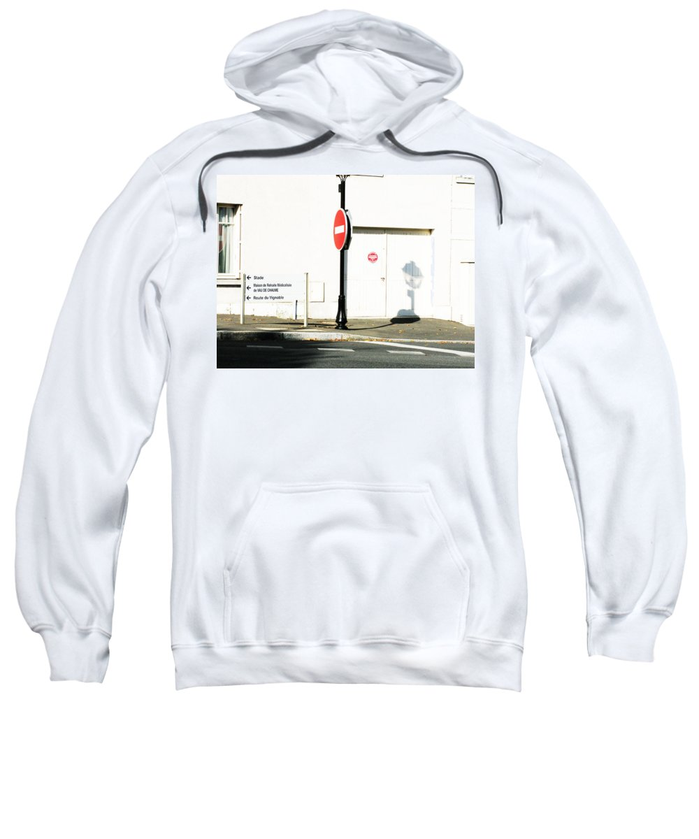 St. Aignan Sweatshirt featuring the photograph St. Aignan Signs And Shadows by Randi Kuhne