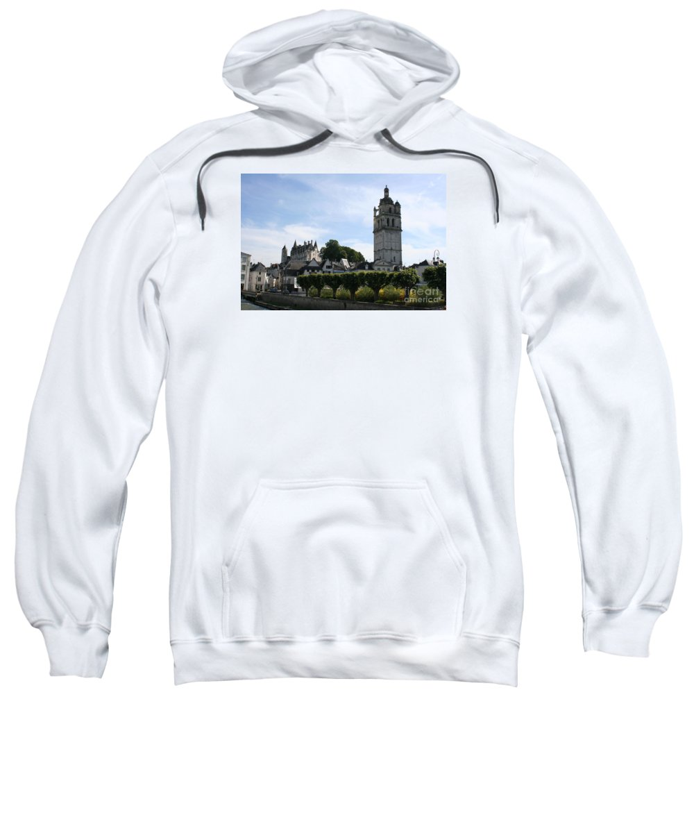 View Sweatshirt featuring the photograph St. Antoine Tower And The Chateau De Loches by Christiane Schulze Art And Photography