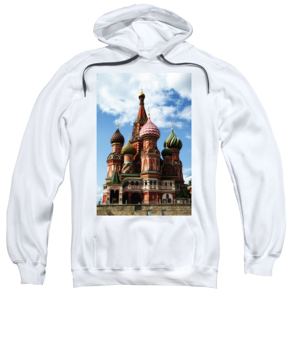 St. Basil's Cathedral Sweatshirt featuring the photograph St. Basil's Cathedral by Linda Dunn