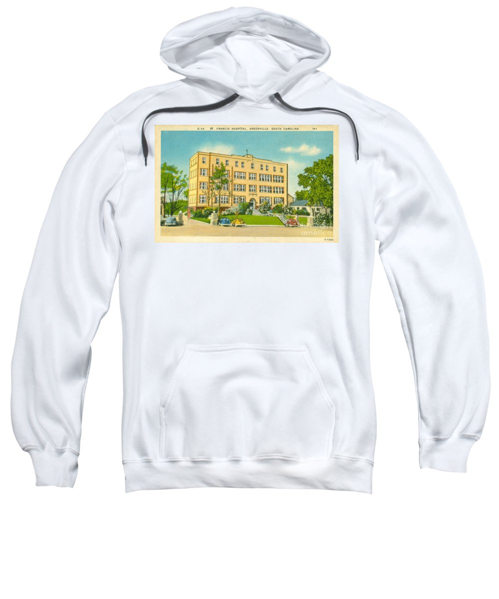 St. Francis Hospital Sweatshirt featuring the photograph St. Francis Hospital by Dale Powell