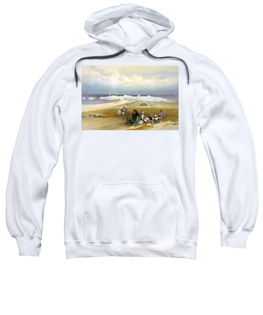 Acre Sweatshirt featuring the photograph St. Jean D'acre April 24th 1839 by Munir Alawi