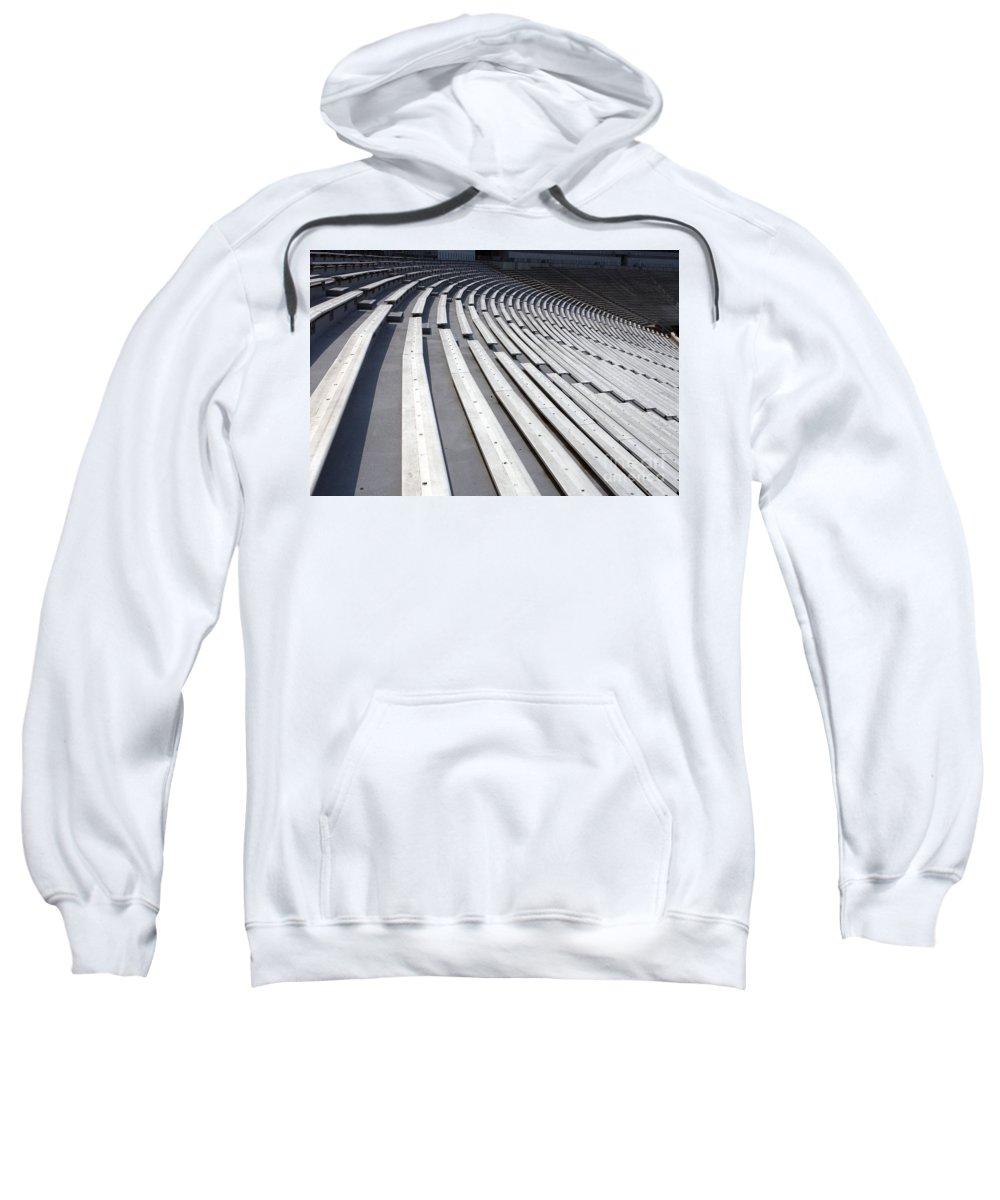 Scott Stadium Sweatshirt featuring the photograph Stadium Bleachers by Jason O Watson
