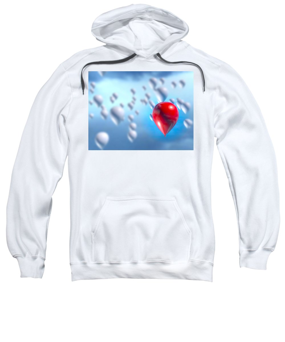 Red Sweatshirt featuring the digital art Stand Out by James Barnes