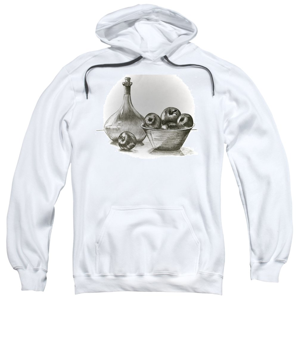 Linda Simon Sweatshirt featuring the drawing Stealing Of The Orchard by Linda Simon