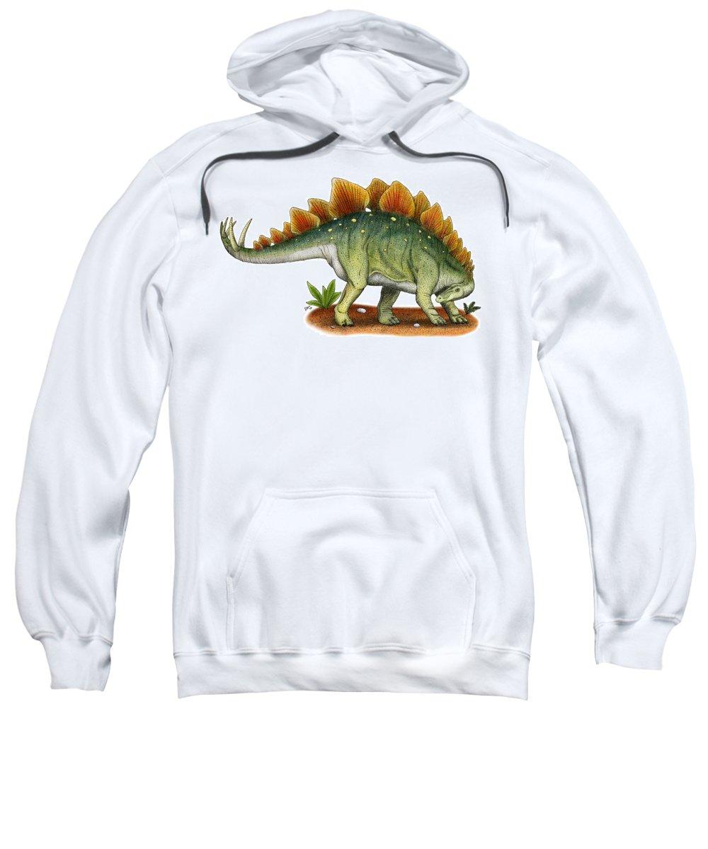Dinosaur Sweatshirt featuring the photograph Stegosaurus by Roger Hall
