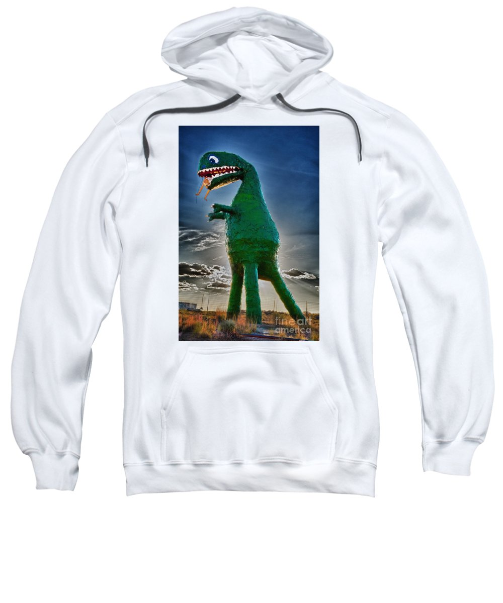 Holbrook Arizona Things To See Sweatshirt featuring the photograph Stewarts Fossils by Gary Warnimont
