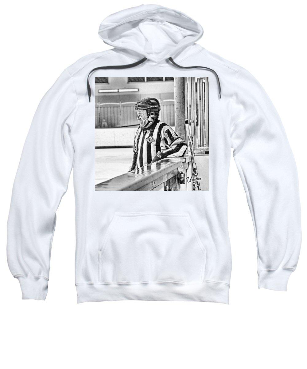 Hockey Art Prints Sweatshirt featuring the digital art Still Having Fun by Elizabeth Urlacher