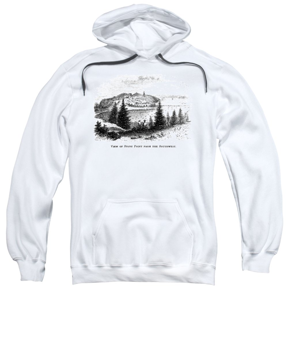 1852 Sweatshirt featuring the painting Stony Point, New York by Granger