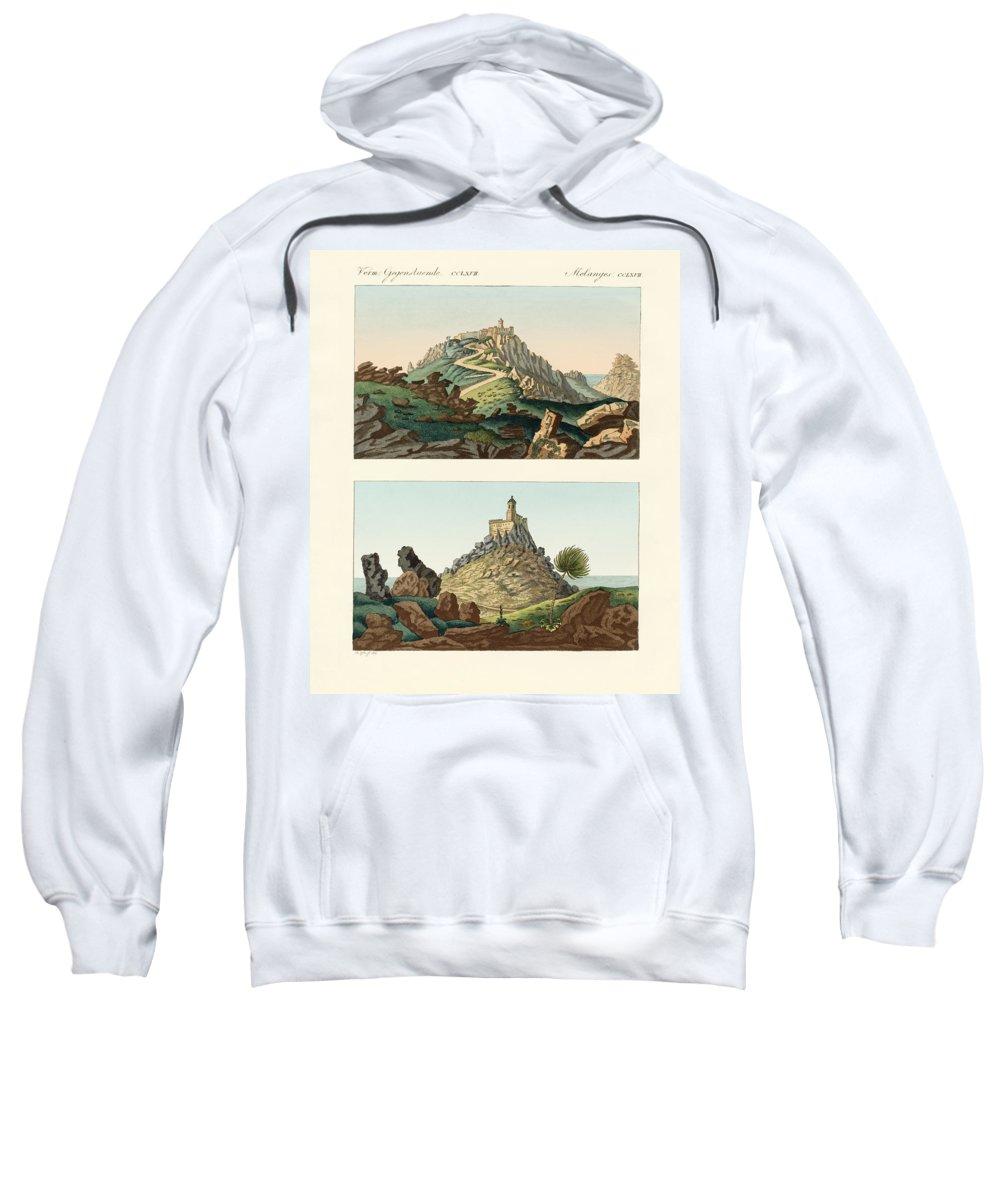 Bertuch Sweatshirt featuring the drawing Strange Abbeys In Portugal by Splendid Art Prints