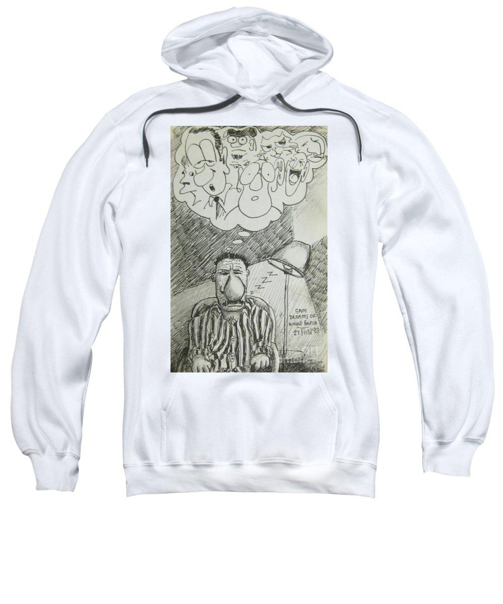 Cartoons Sweatshirt featuring the drawing Strange Dreams by John Malone