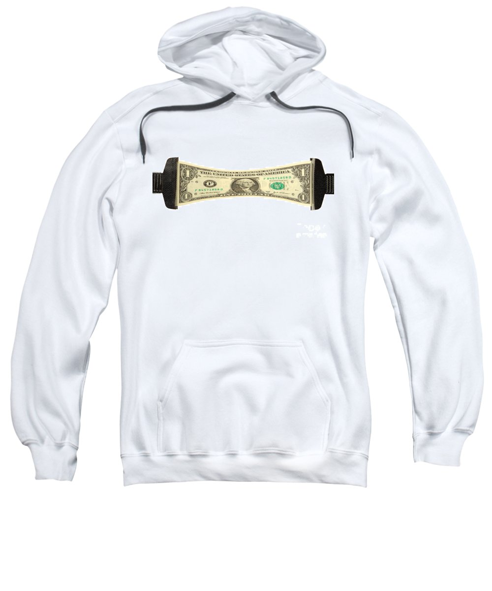 Dollar Sweatshirt featuring the photograph Stretching The Dollar by Olivier Le Queinec