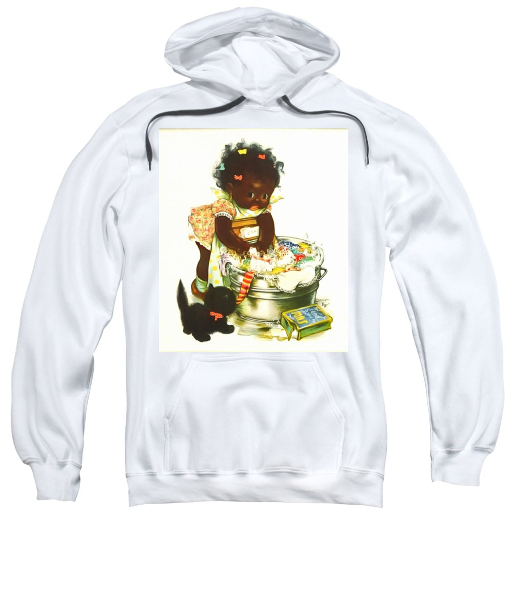Suds And Nuds Sweatshirt featuring the painting Suds And Nuds by Charlotte Byj