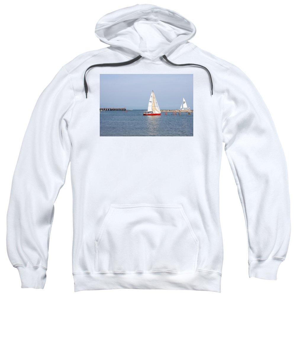 Santa Barbara Sweatshirt featuring the photograph Summer In Santa Barbara by Art Block Collections