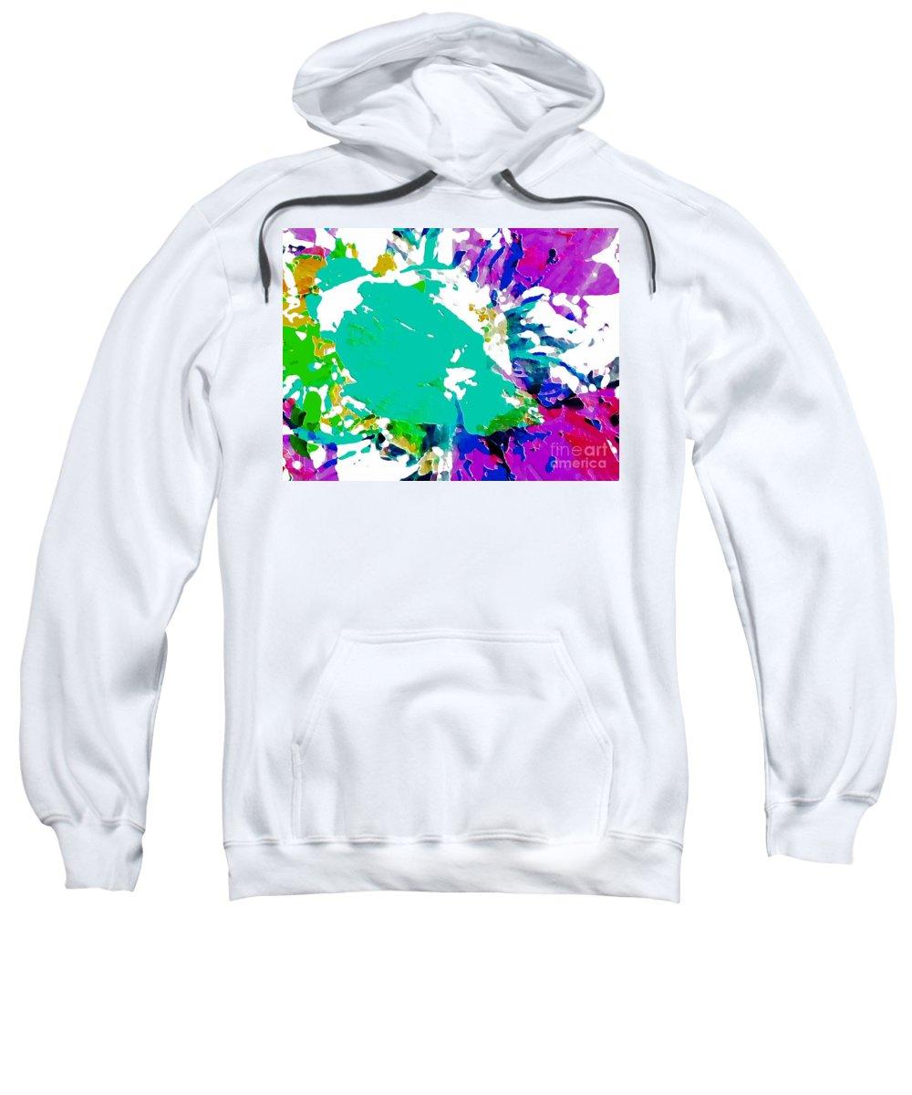 Abstract Sweatshirt featuring the photograph Summer Splash by Barbara Moignard