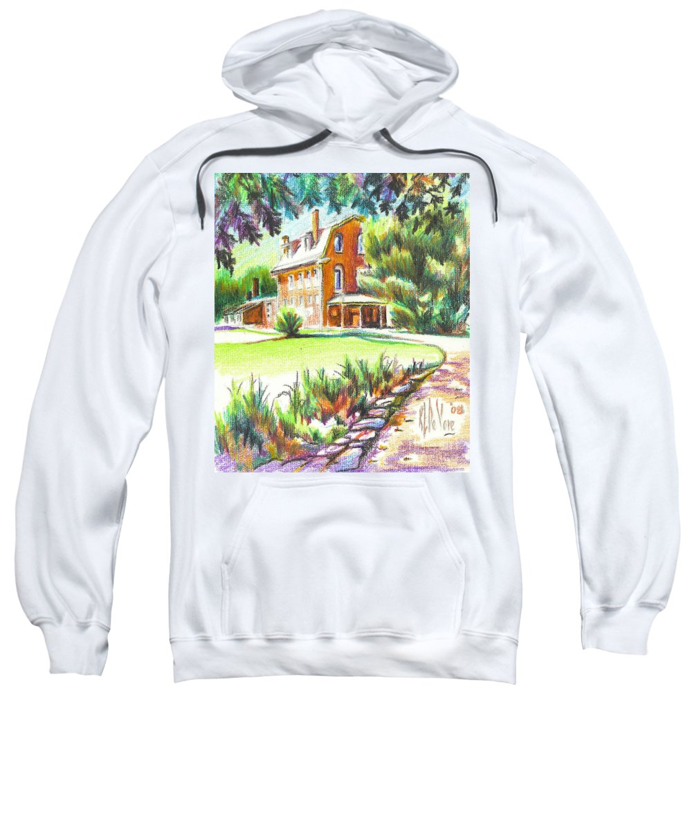Summertime At Ursuline No C101 Sweatshirt featuring the painting Summertime At Ursuline No C101 by Kip DeVore