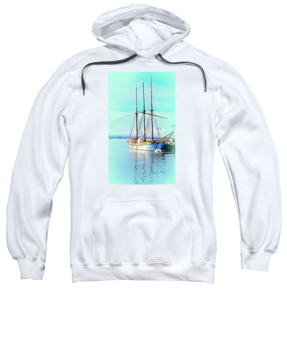 Boat Sweatshirt featuring the photograph Summertime Will Be Soon And Then We Will Sail Away Again by Hilde Widerberg