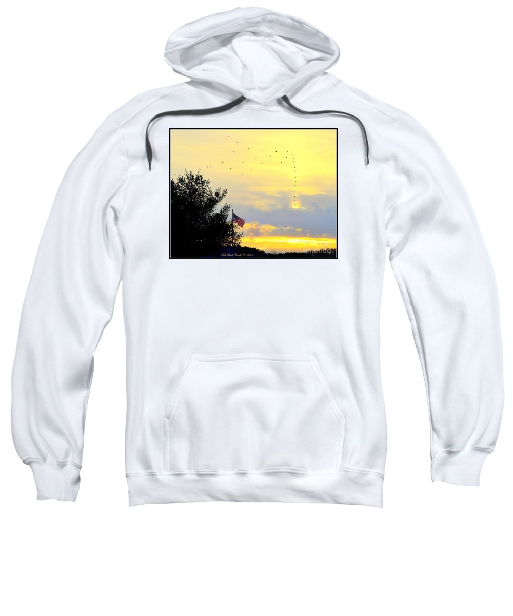 Flag Sweatshirt featuring the photograph Sun Birds by Deb Badt-Covell