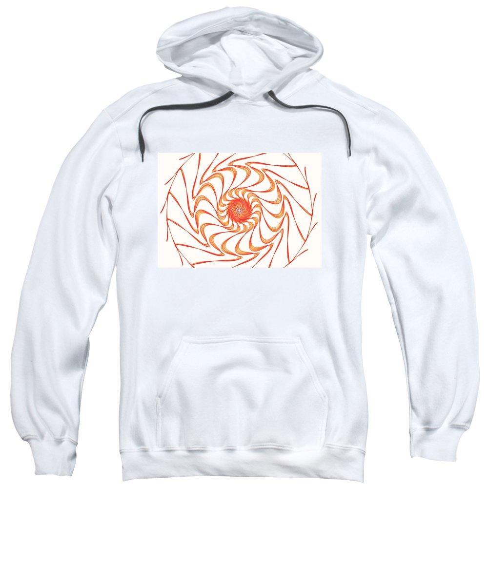 Digital Sweatshirt featuring the drawing Sun Hat by Ellsbeth Page