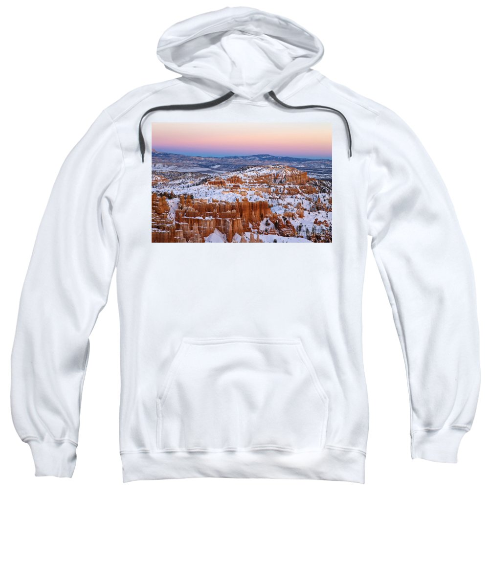 Bryce Canyon Sweatshirt featuring the photograph Sunset At Bryce Canyon National Park Utah by Jason O Watson