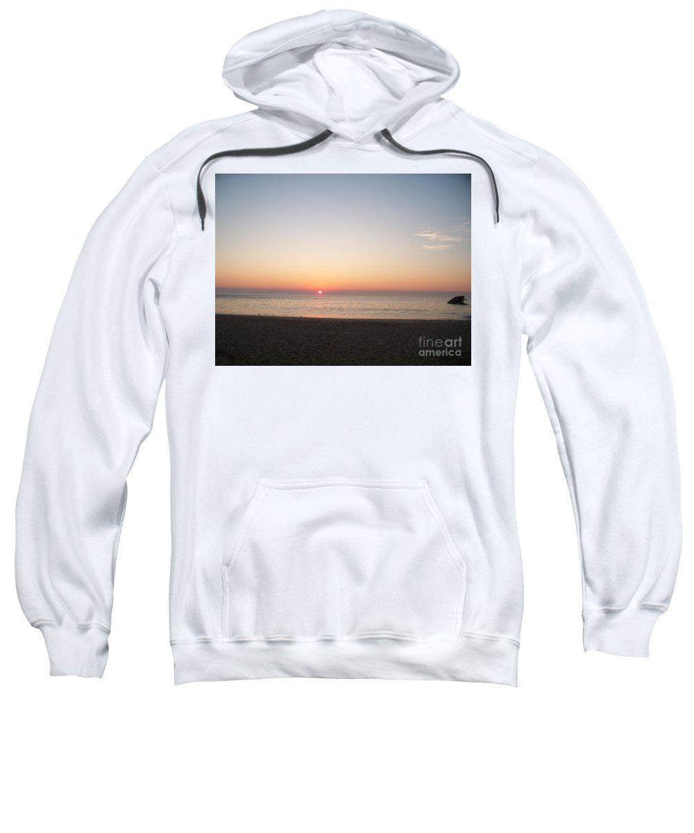 Atlantic Sweatshirt featuring the photograph Sunset On The Delaware Sunset Beach by Eric Schiabor