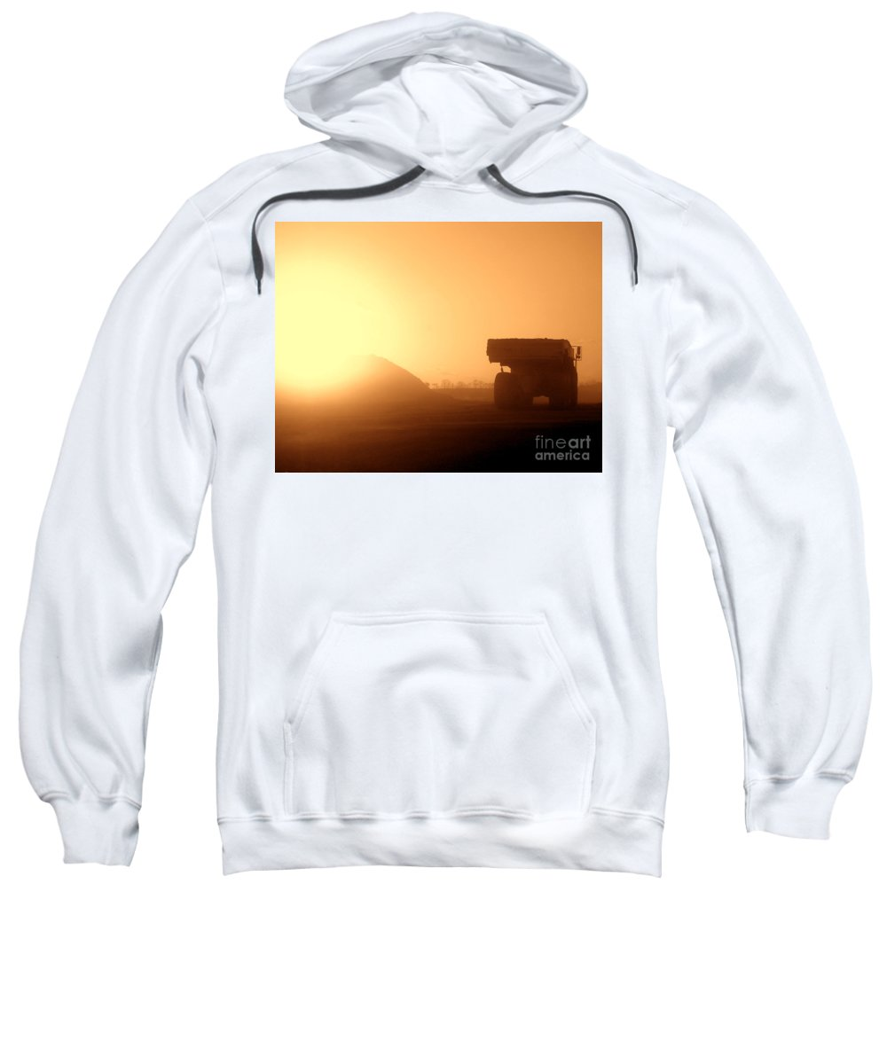 Truck Sweatshirt featuring the photograph Sunset Truck by Olivier Le Queinec
