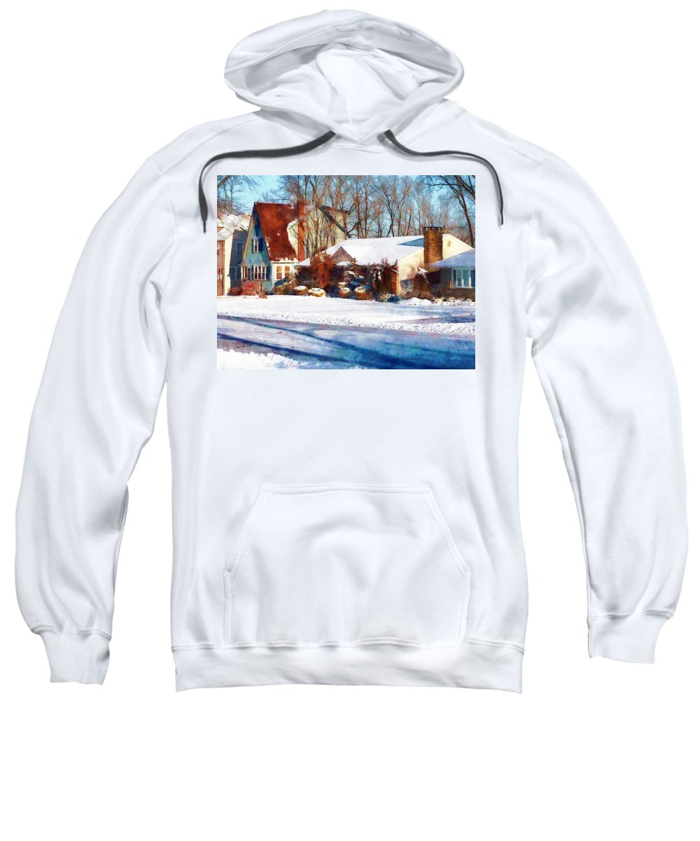 Street Sweatshirt featuring the photograph Sunshine After The Snow by Susan Savad