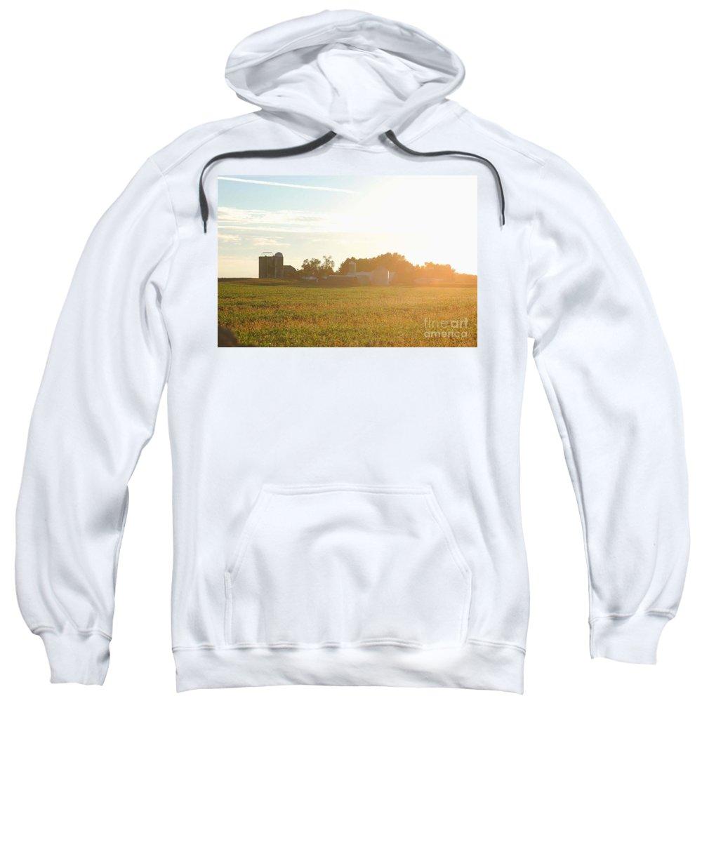 Farm Sweatshirt featuring the photograph Sunshine Over The Farm by Elizabeth Stone