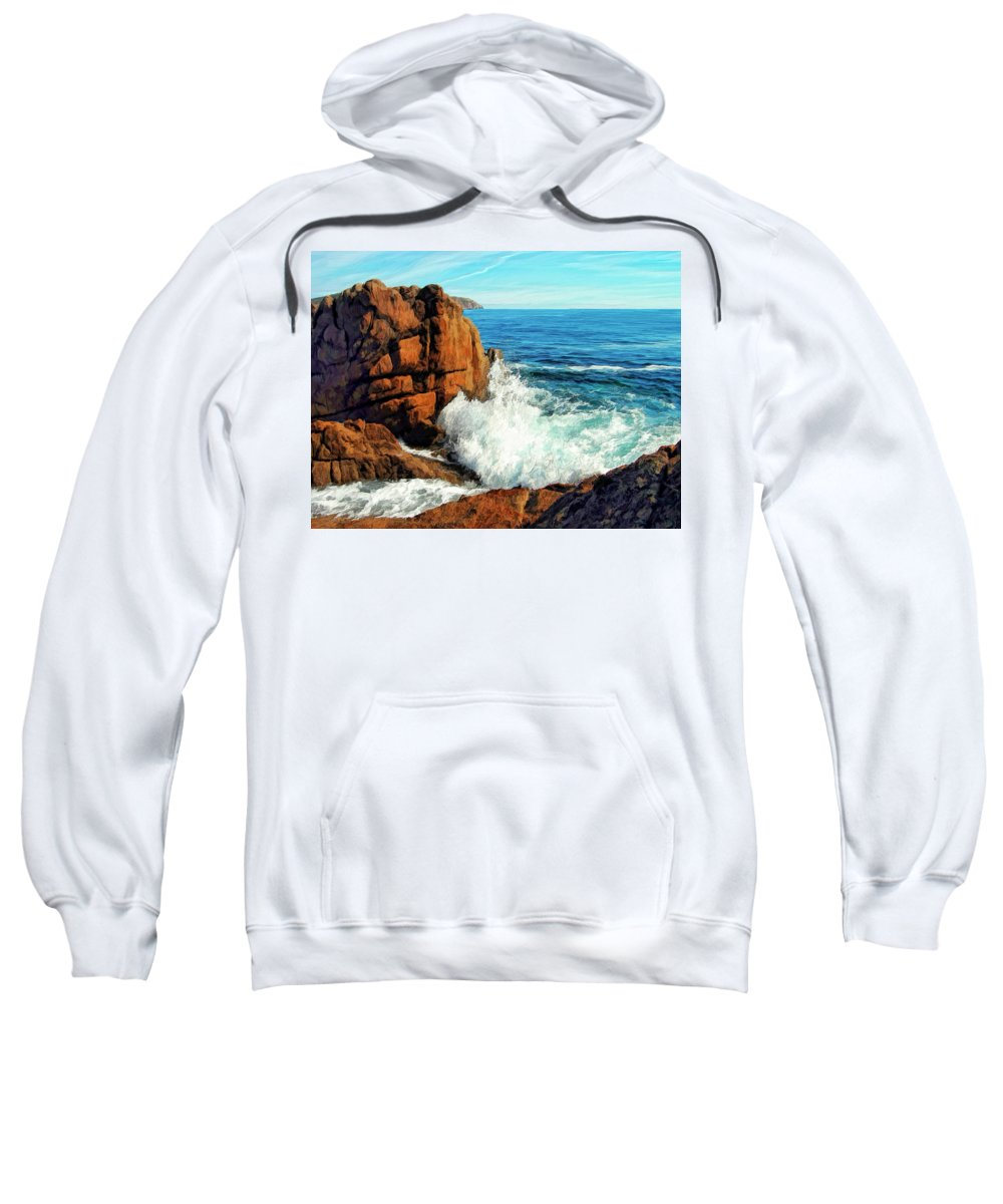 Surge Sweatshirt featuring the painting Surge by Dominic Piperata