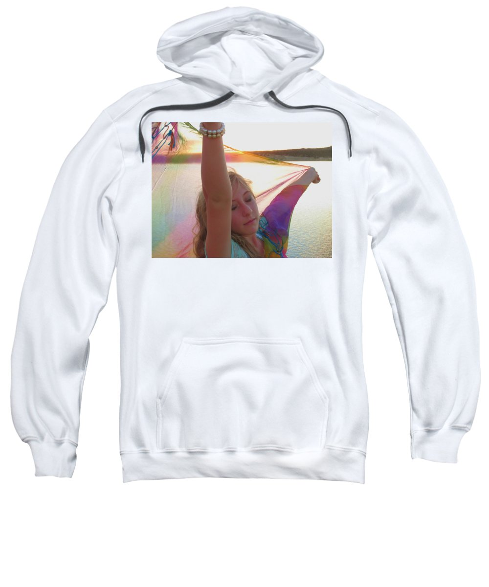 Prophetic Sweatshirt featuring the photograph Surrrender by Jewell McChesney