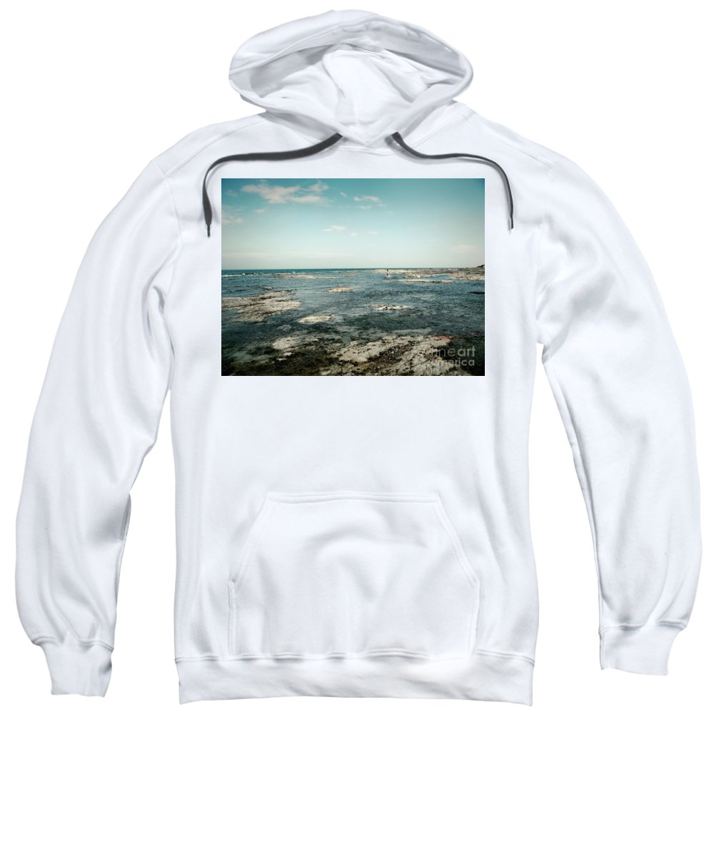 Blue Sweatshirt featuring the photograph Suspended Time by Aimelle
