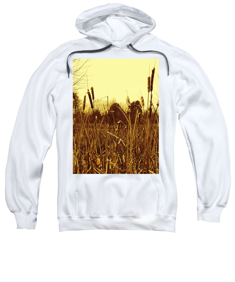 Swamp Sweatshirt featuring the photograph Swamp Grass by Kathy Clark