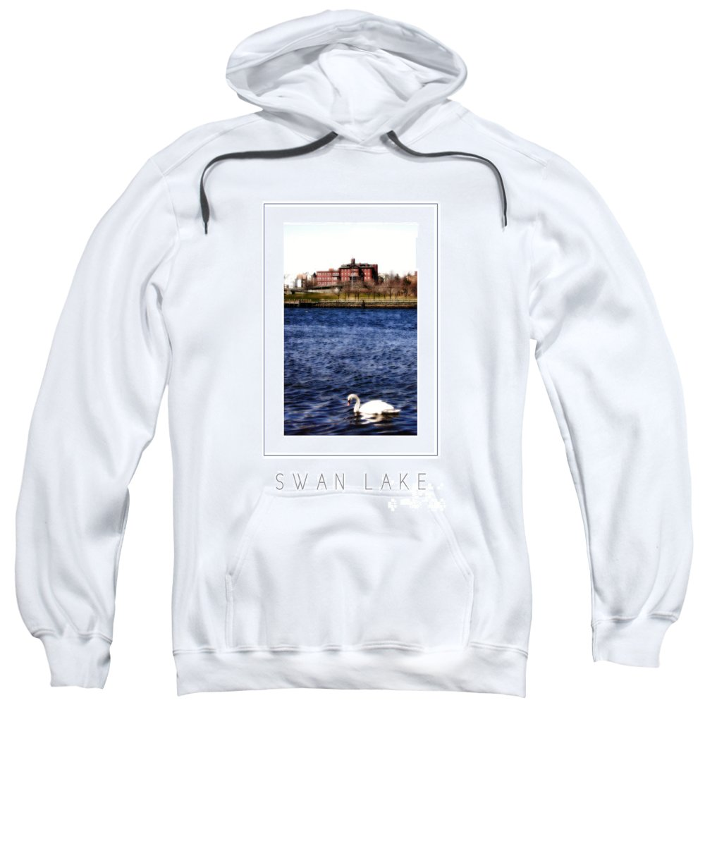 Swan Sweatshirt featuring the photograph Swan Lake Poster by Mike Nellums