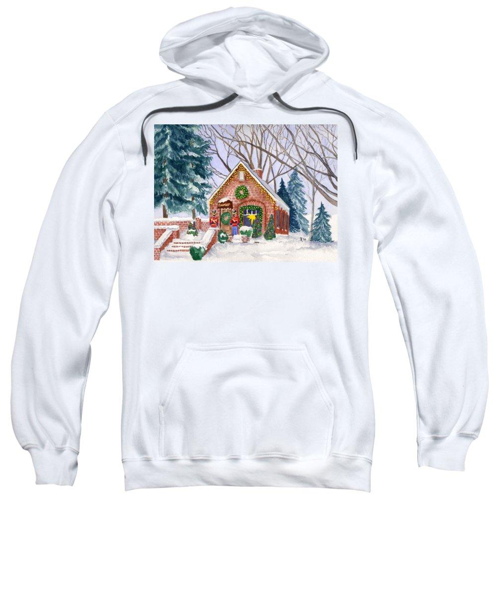 Winter Sweatshirt featuring the painting Sweet Pierre's Chocolate Shop by Rhonda Leonard