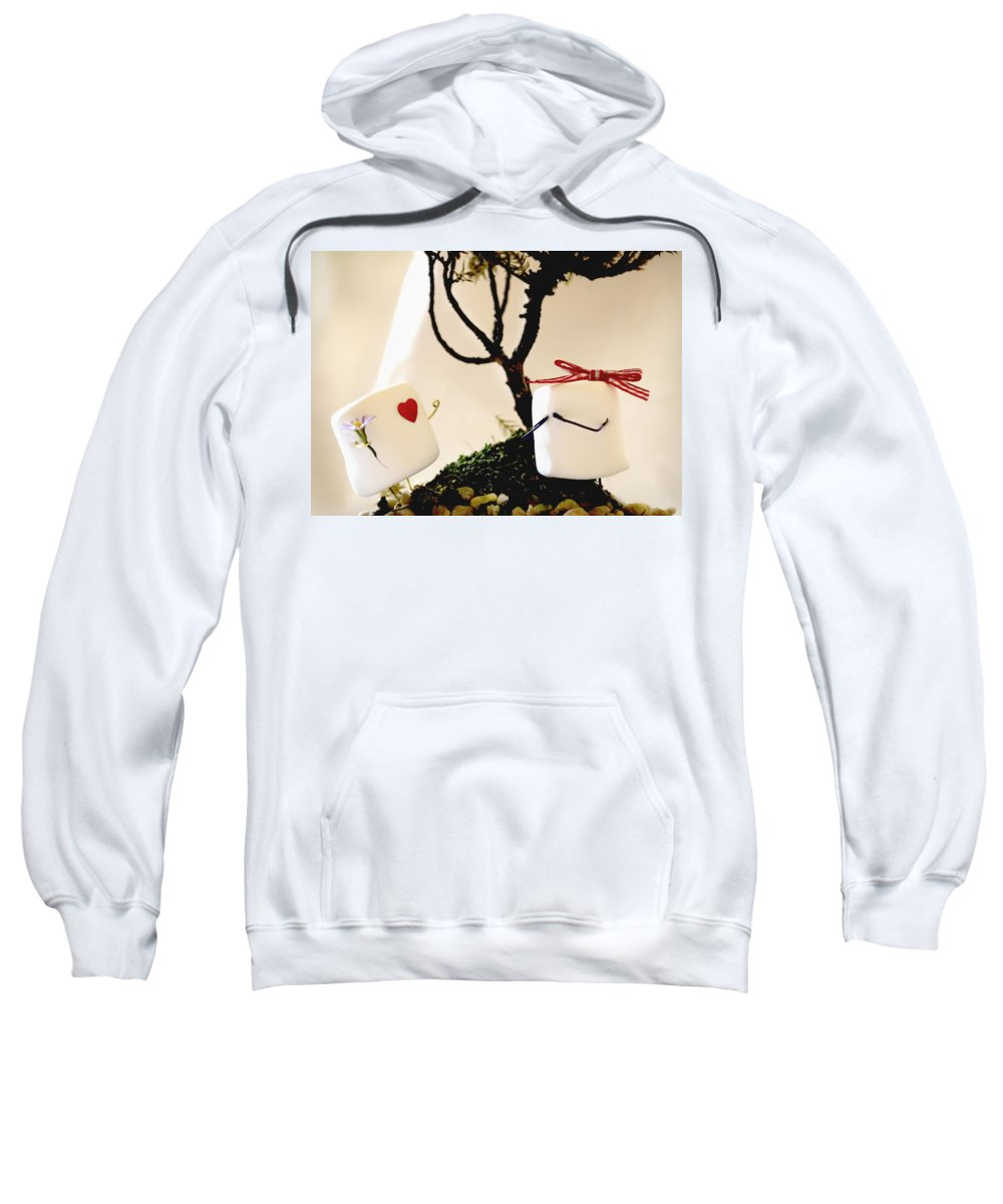 Valentine Sweatshirt featuring the photograph Sweet Surprise by Heather Applegate