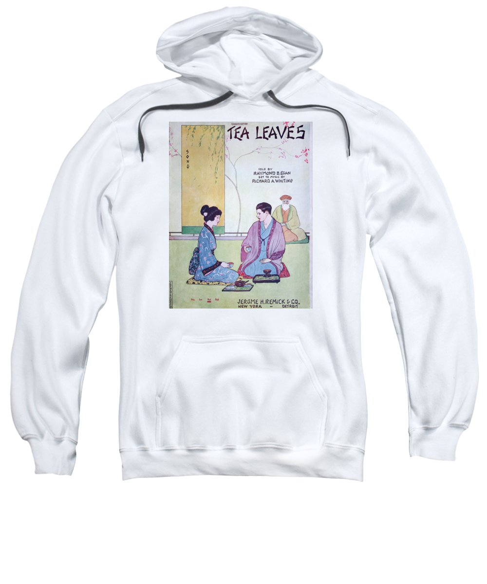 Sheet Music Sweatshirt featuring the drawing Tea Leaves by Ric Bascobert